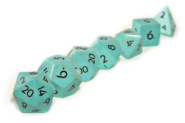 Turquoise Dice from Level Up Dice