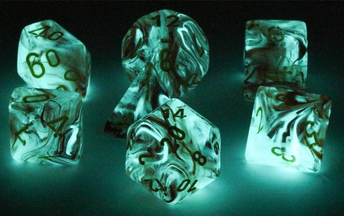 Dark Elf Dice Glow in the Dark