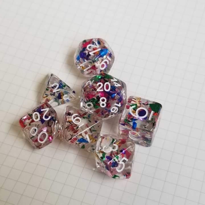 Confetti Dice from Dice Envy